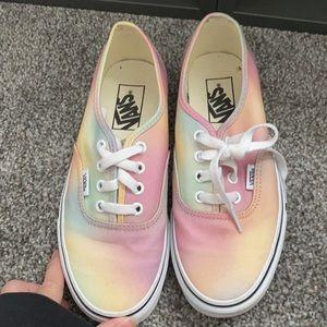 Vans aura shift rainbow die dye shoes